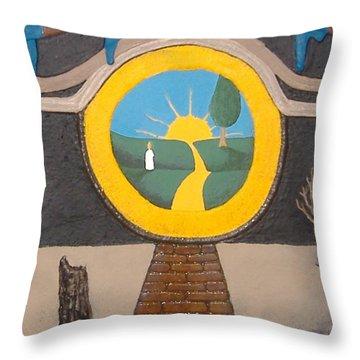 Keyhole Throw Pillow by Steve  Hester