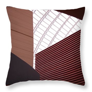 Kimmel Center Geometry Throw Pillow by Rona Black