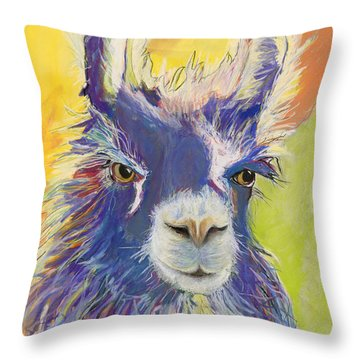 King Charles Throw Pillow by Pat Saunders-White