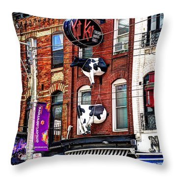 King Street West Throw Pillow by Nicky Jameson