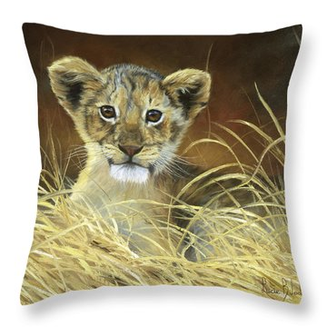 King To Be Throw Pillow by Lucie Bilodeau