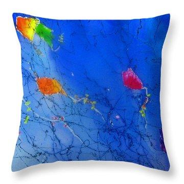 Kite Sky Throw Pillow by Anne Duke