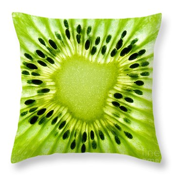 Kiwism Throw Pillow by Delphimages Photo Creations