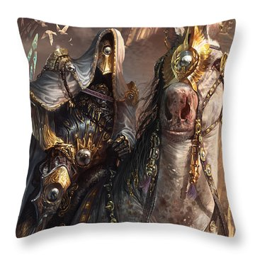 Knight Of Obligation Throw Pillow by Ryan Barger