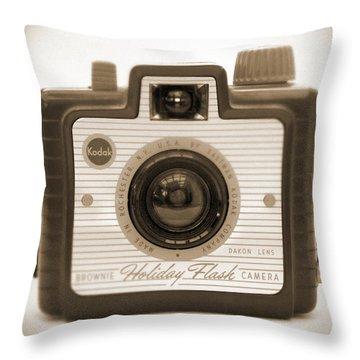 Kodak Brownie Holiday Flash Throw Pillow by Mike McGlothlen