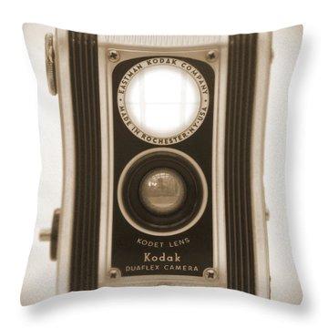 Kodak Duaflex Camera Throw Pillow by Mike McGlothlen