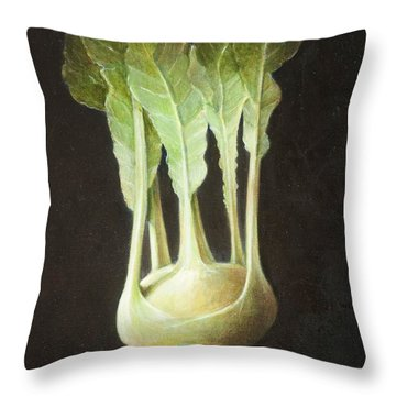 Kohl Rabi, 2012 Acrylic On Canvas Throw Pillow by Lincoln Seligman