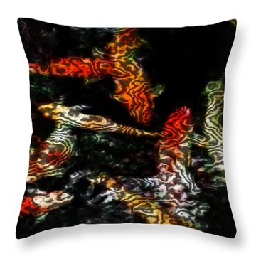 Koi Throw Pillow by Elizabeth McTaggart