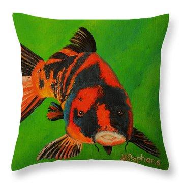 Koi Throw Pillow by Nina Stephens