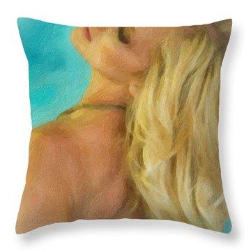 Kristin Throw Pillow by Angela A Stanton