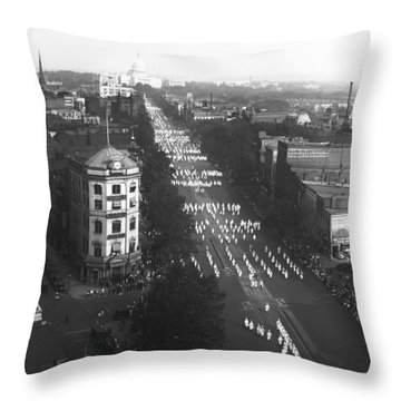 Ku Klux Klan Parade Throw Pillow by Underwood Archives