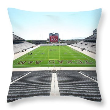 Kyle Field Throw Pillow by Georgia Fowler