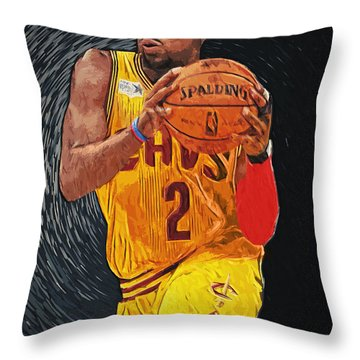 Kyrie Irving Throw Pillow by Taylan Soyturk