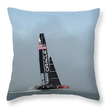 L I F T O F F -- U S A    Wins Throw Pillow by David Bearden