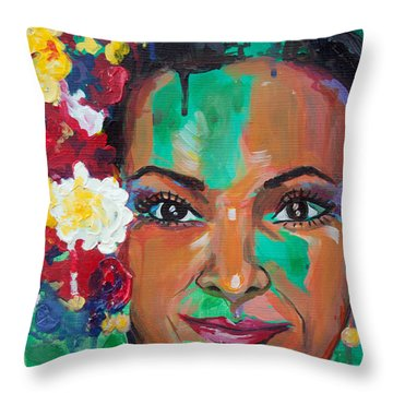 La Bailarina Throw Pillow by Julia Pappas