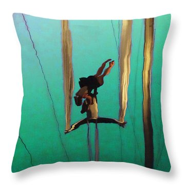 La Loupiote Throw Pillow by Anne Mott