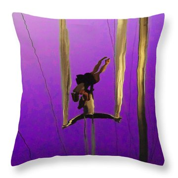 La Loupiote In Lavender Throw Pillow by Anne Mott