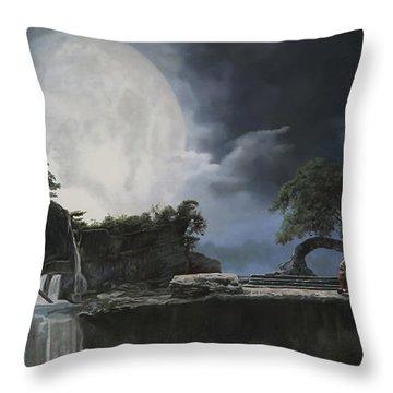 La Luna Bianca Throw Pillow by Guido Borelli
