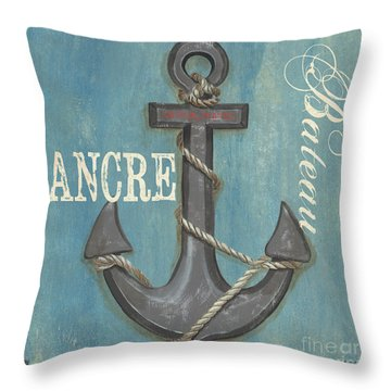 La Mer Ancre Throw Pillow by Debbie DeWitt