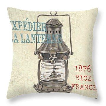 La Mer Lanterne Throw Pillow by Debbie DeWitt