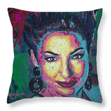 La Reina De Miami Throw Pillow by Maria Arango