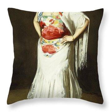La Reina Mora Throw Pillow by Robert Henri