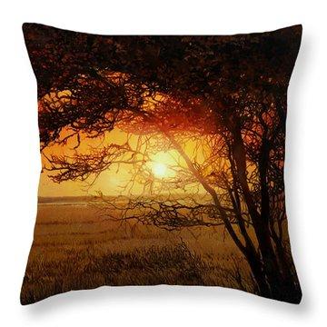 La Savana Al Tramonto Throw Pillow by Guido Borelli