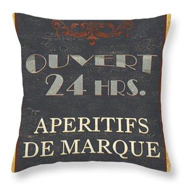 La Soupe Du Jour Throw Pillow by Debbie DeWitt