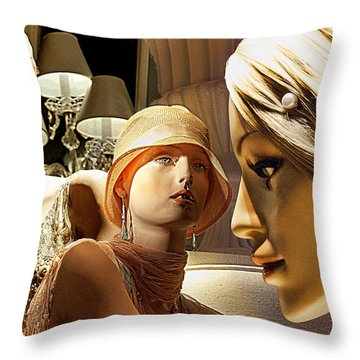 Ladies Of Rodeo Drive Throw Pillow by Chuck Staley