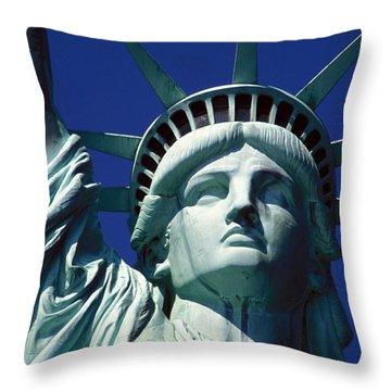 Lady Liberty Throw Pillow by Jon Neidert