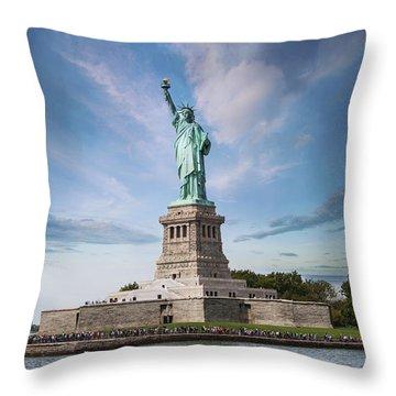 Lady Liberty Throw Pillow by Juli Scalzi
