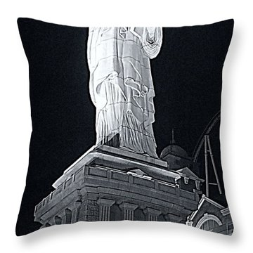 Lady Liberty Throw Pillow by Kay Novy
