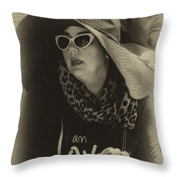 Lady Of Fashion Throw Pillow by Rene Triay Photography