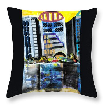 Lake Eola - Part 1 Of 3 Throw Pillow by Everett Spruill