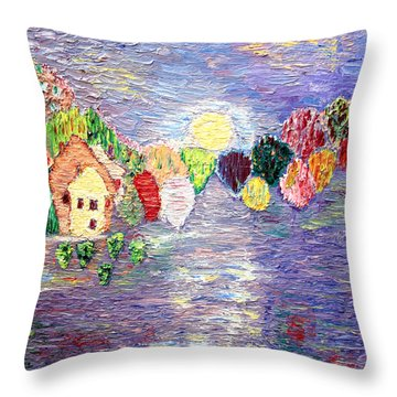 Lake House Throw Pillow by Vadim Levin