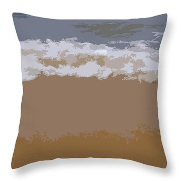 Lake Michigan Shoreline Throw Pillow by Michelle Calkins