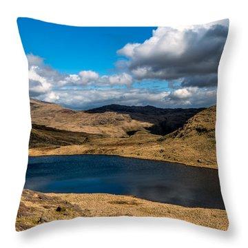 Lake Teyrn Snowdonia Throw Pillow by Adrian Evans