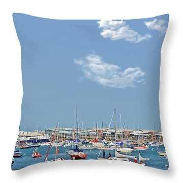 Lakefront Chicago Throw Pillow by Christine Till