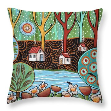 Lakeside1 Throw Pillow by Karla Gerard