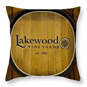 Lakewood Vineyards Throw Pillow by Frozen in Time Fine Art Photography