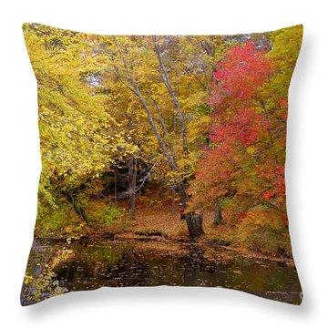 Lamprey In Fall Throw Pillow by Eunice Miller