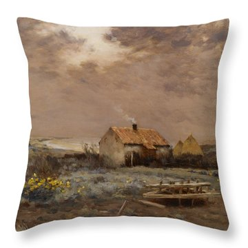Landscape Throw Pillow by Jean Charles Cazin