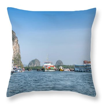 Lanta Island Dock Throw Pillow by Adrian Evans