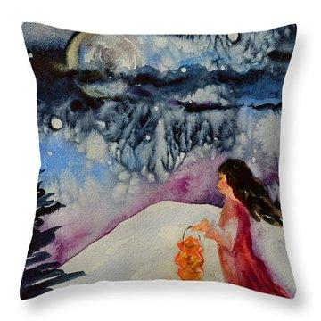 Lantern Festival Throw Pillow by Beverley Harper Tinsley