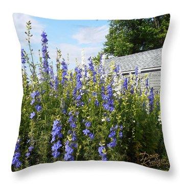 Larkspur Throw Pillow by Doug Kreuger