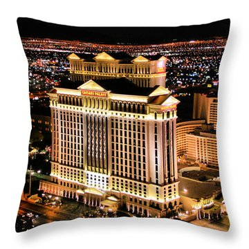 Las Vegas Throw Pillow by Kristin Elmquist