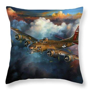 Last Flight For Nine-o-nine Throw Pillow by Randy Green