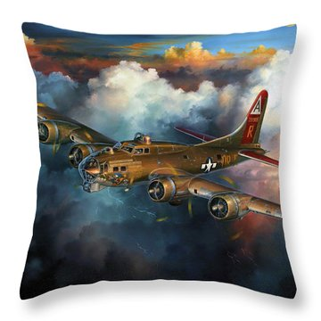 Last Flight For Nine-o-nine Throw Pillow by Randy Green