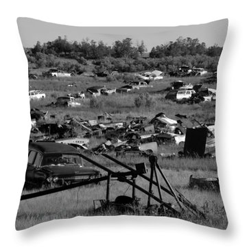Last Ride Throw Pillow by David Lee Thompson