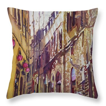 Late Afternoon In Florence Throw Pillow by Jenny Armitage